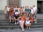 Group photo outside Santo Spirito.